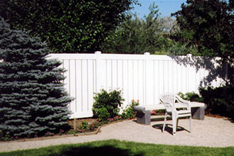 Fenced In Vinyl - Semi-Privacy Fencing